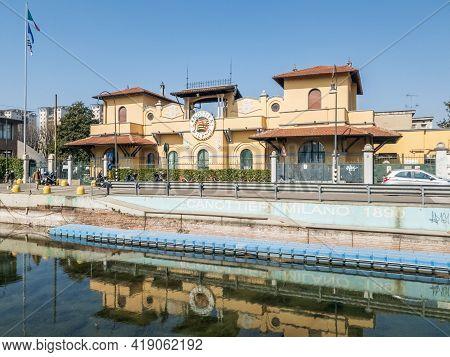 Milan,italy-march 24,2021:headquarters Of The Rowers Milano, Milano, Italy.