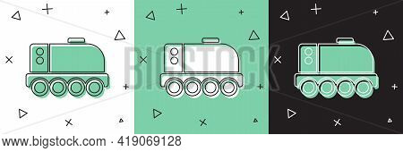 Set Mars Rover Icon Isolated On White And Green, Black Background. Space Rover. Moonwalker Sign. App