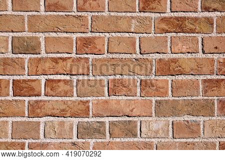 Background From A Clean Orange Brick Wall