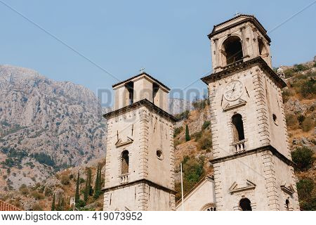 Chapel Of The Tower Of The Cathedral Of St. Tryphon In The Old Town Of Kotor In Montenegro