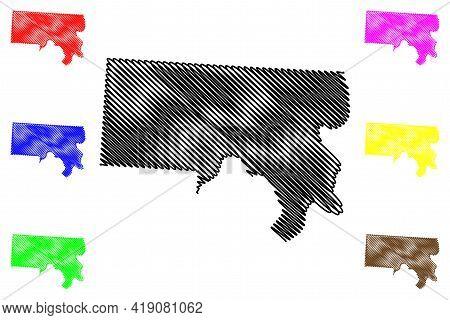 Meigs County, Ohio State (u.s. County, United States Of America, Usa, U.s., Us) Map Vector Illustrat