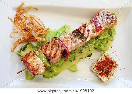Grilled Cube Salmon