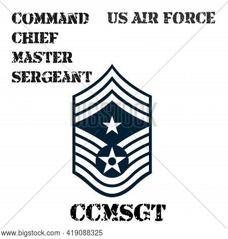 Realistic Vector Badge Of The Armband Of The Chevron Of The Command Chief Master Sergeant Of The Us