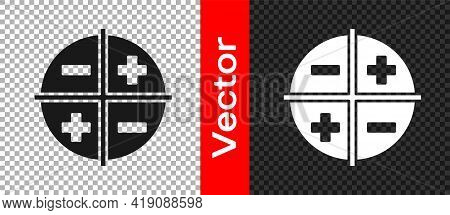 Black Xyz Coordinate System Icon Isolated On Transparent Background. Xyz Axis For Graph Statistics D