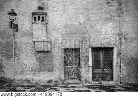 An Old Disused Building In The Historic Centre Of Grado, Friuli-venezia Giulia, North East Italy