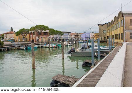 The Marina Area In The Coastal Town Of Marano Lagunare In Friuli-venezia Giulia, North East Italy