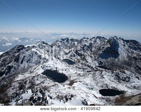 View From Surya Peak, Lake Gosainkunda