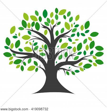 Tree Icon. Simple Vector Illustration On A White Background.