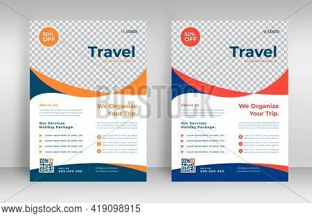 Tour And Travel Flyer. Travel Flyer. Tour And Travel Flyer Or Brochure Template Business Concept.  F