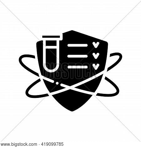 Immune System Testing Glyph Icon. Immune System Concept. Immunological Test. Body Defence System. He