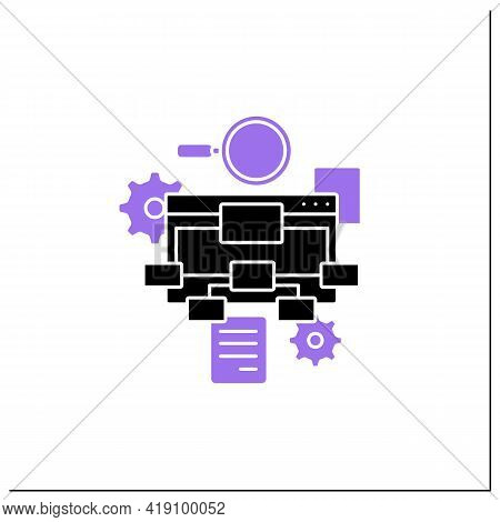 Information Architecture Glyph Icon.organizing, Structuring Website Content. Labelling Websites, Int