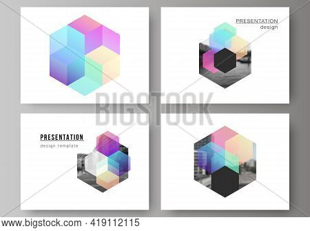 Vector Layout Of The Presentation Slides Design Business Templates, Multipurpose Template With Abstr