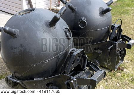 War Ii Sea Crab Mine Taken From A Ship