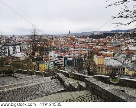 View Of The Old Town Cluj Napoca From  Cetatuia Hill, Belvedere Hotel