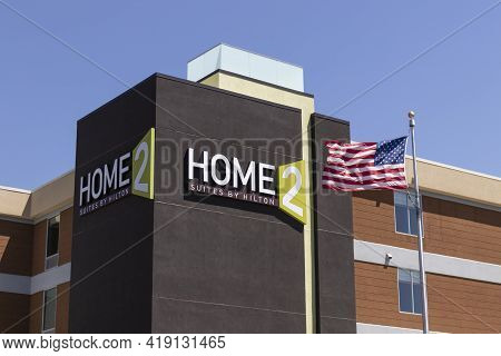 Indianapolis - Circa May 2021: Home2 Suites By Hilton. Home2 Suites Is Part Of The Hilton Worldwide