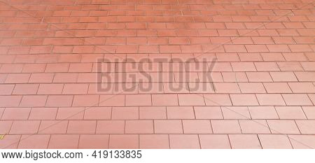 Red Brick Wall Pattern Background