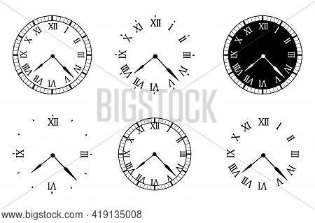 Retro Set Watch. Clock Icon. Arrow Vector Icon. Time Symbol Illustration. Watch, Time Icon. Vector I
