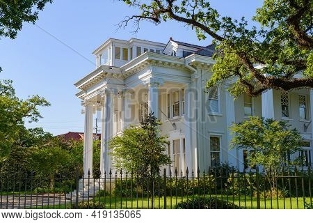 New Orleans, La - April 25: Tulane University President's Residence On St. Charles Avenue On April 2