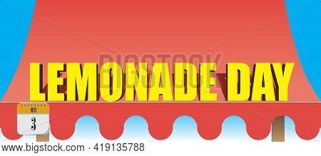 Kiosk Fabric Canopy For Lemonade Trade By Date Lemonade Day