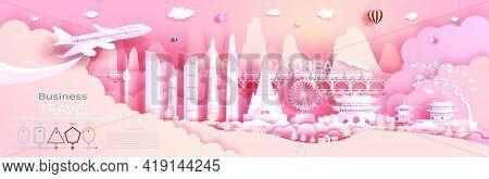 Advertising Travel Company Go To Korea Top World Famous. Tour Presentation, Design, Template, Banner