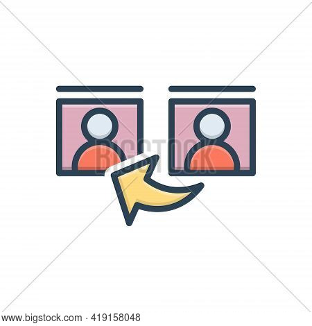 Color Illustration Icon For Reference  Testimony Communication Concept Guideline