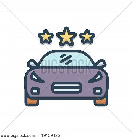 Color Illustration Icon For Vehicle Conveyance Carriage Transportation Car