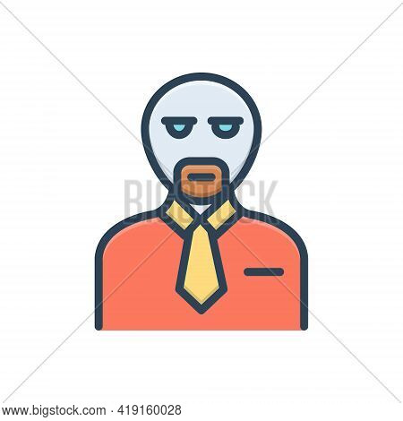 Color Illustration Icon For Client Customer Subscriber Clientele Underwriter Purchaser