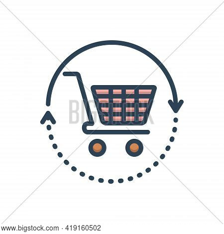 Color Illustration Icon For Buysell Buy Sell Purchase Vend