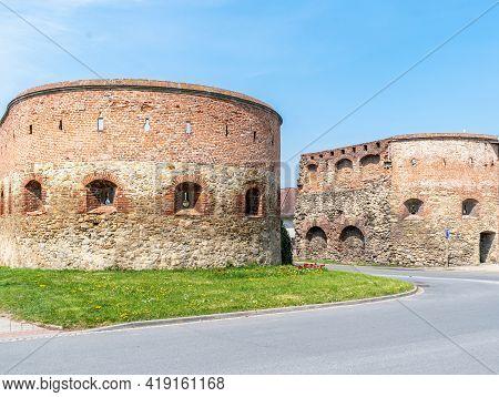 Strážnice, Czech Republic - May 1, 2021, Historic Fortifications In Strážnice In South Moravia. Buil