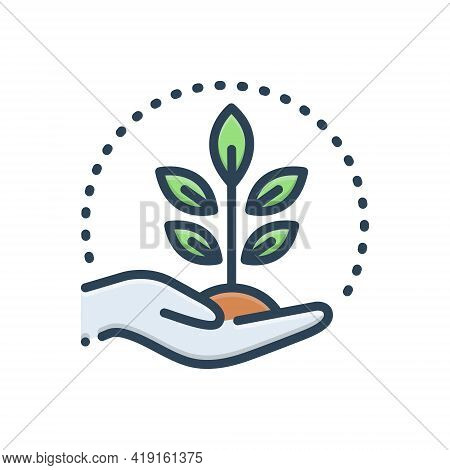 Color Illustration Icon For Conserving Protection Conservancy Tutelage Aegis
