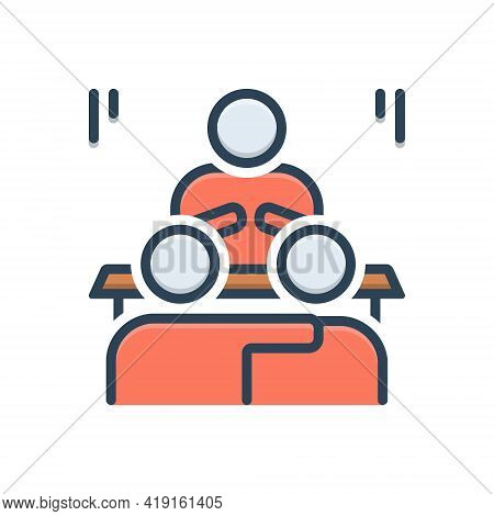 Color Illustration Icon For Convince Explain Decode Exhort Expostulate