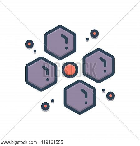 Color Illustration Icon For Commonly Ordinarily Usually Generally