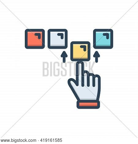 Color Illustration Icon For Completeness Perfection Integrity Perfectness Fullness Acme