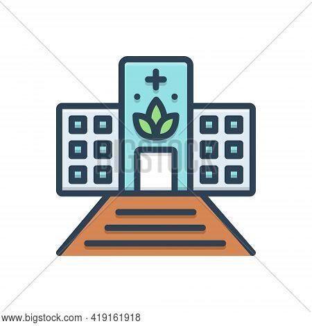 Color Illustration Icon For Dispensaries Dispensary Pharmacy Ambulatory Drugstore