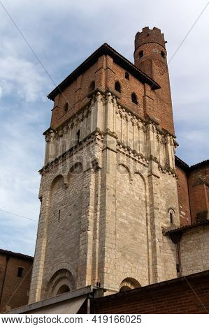 Albi, France - July 17, 2014: View Of The Saint Salvi Church In Albi. France