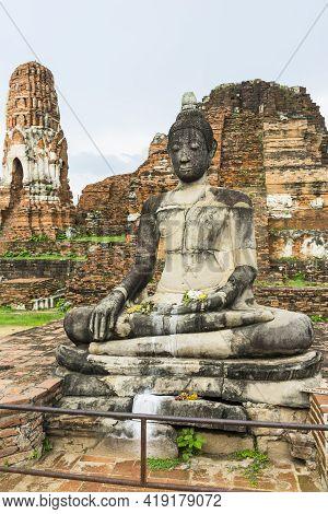 Ruined Of Wat Mahathat In Ayutthaya Historical Park, Ayutthaya, Thailand