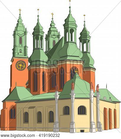 The Old Cathedral In The City Poznan.