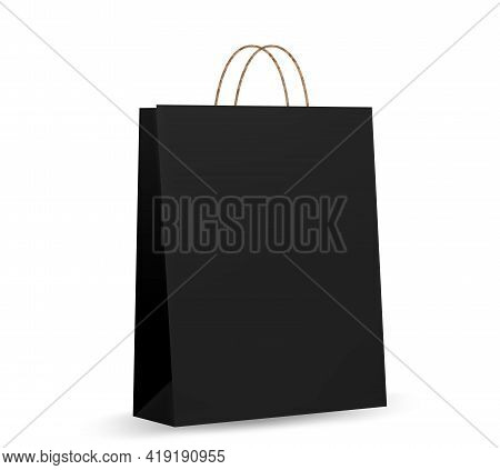 Realistic Cardboard Package. Craft Packaging For Takeaway Food. Paper Package Isolated On White Back