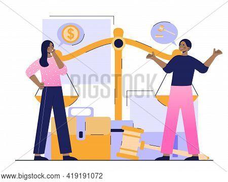 Adversarial Trial Principle. Debate Of The Parties. Financial Claims. Couple Divorce Proceedings. Fl