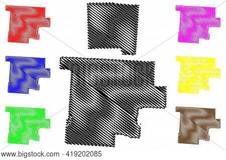 Morgan And Miami County, Ohio State (u.s. County, United States Of America, Usa, U.s., Us) Map Vecto