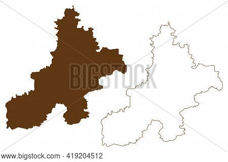 Nienburg District (federal Republic Of Germany, Rural District, State Of Lower Saxony) Map Vector Il