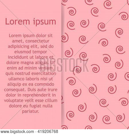 Abstract Spiral Pattern With Hand Drawn Spirals. Cute Vector Spiral Pattern. Seamless Spiral Pattern