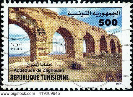Tunisia - Circa 1999: A Stamp Printed In Tunisia From The
