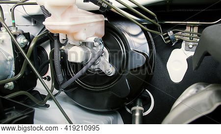 Car Brake Booster Is Use A Vacuum To Balance The High Fluid Pressure In The Braking System Of A Vehi