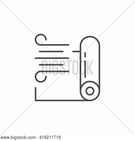 Windproof Membrane Line Outline Icon Isolated On White