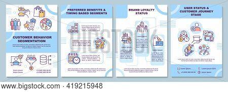 Customer Behavior Segmentation Brochure Template. Preferred Benefit. Flyer, Booklet, Leaflet Print,