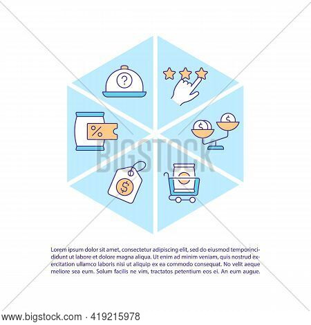 Consumer Decision Styles Concept Line Icons With Text. Ppt Page Vector Template With Copy Space. Bro