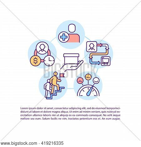 User Status And Customer Journey Stage Concept Line Icons With Text. Ppt Page Vector Template With C