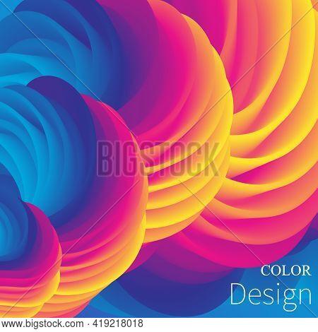 Color Background. Fluid Poster. Flow Wave. Vector Illustration.