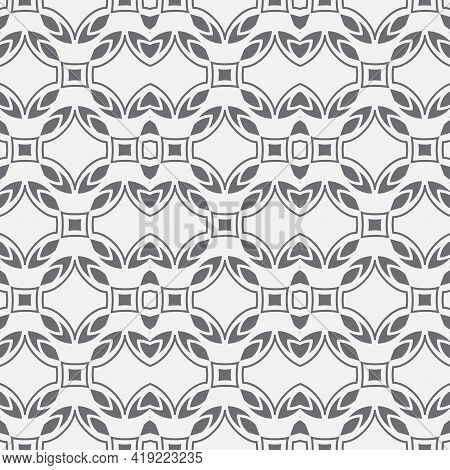 Seamless Geometric Vector Pattern. Abstract Background With Repeating Geometric Shapes. Ethnic Ornam